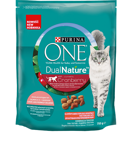 Purina ONE® DualNature™ su spanguolėmis