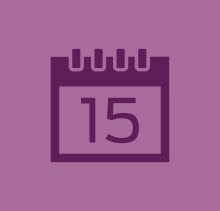 Purple calendar icon