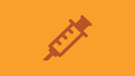 Orange syringe icon