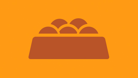 Orange food bowl icon
